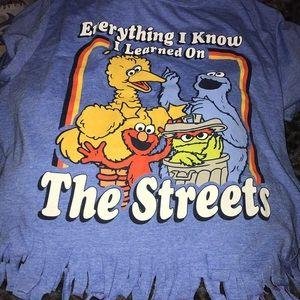 Sesame Street crop top shirt
